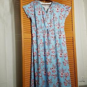 HB Hazel Blue Short Sleeve Maxi Dress